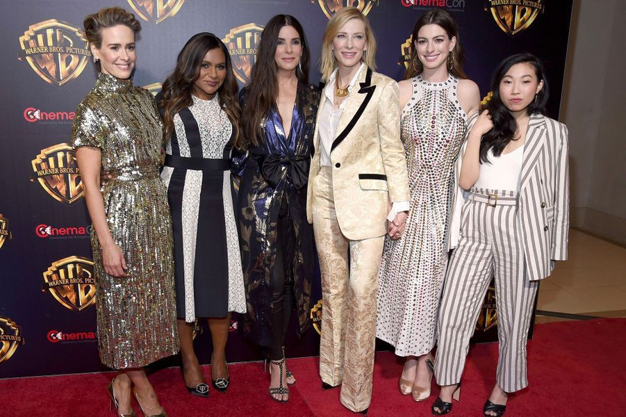 Sarah Paulson, Mindy Kaling, Sandra Bullock, Cate Blanchett, Anne Hathaway et Awkwafina au CinemaCon de Las Vegas