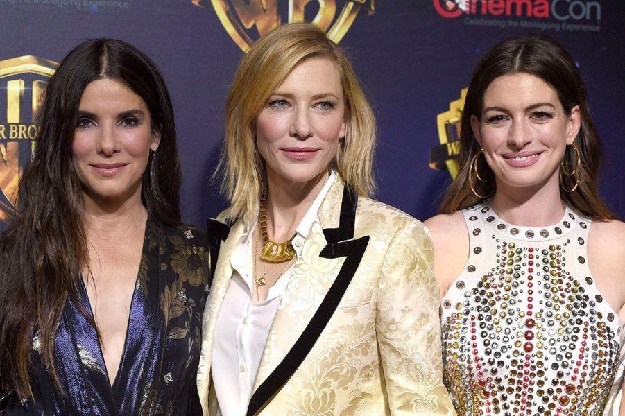 Sandra Bullock, Cate Blanchett et Anne Hathaway au CinemaCon de Las Vegas