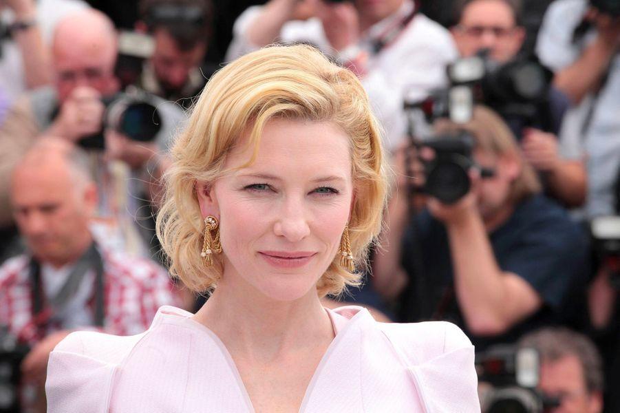"""Cate Blanchett au 63e Festival de Cannes (2010) pour présenter le film """"Robin des bois"""""""