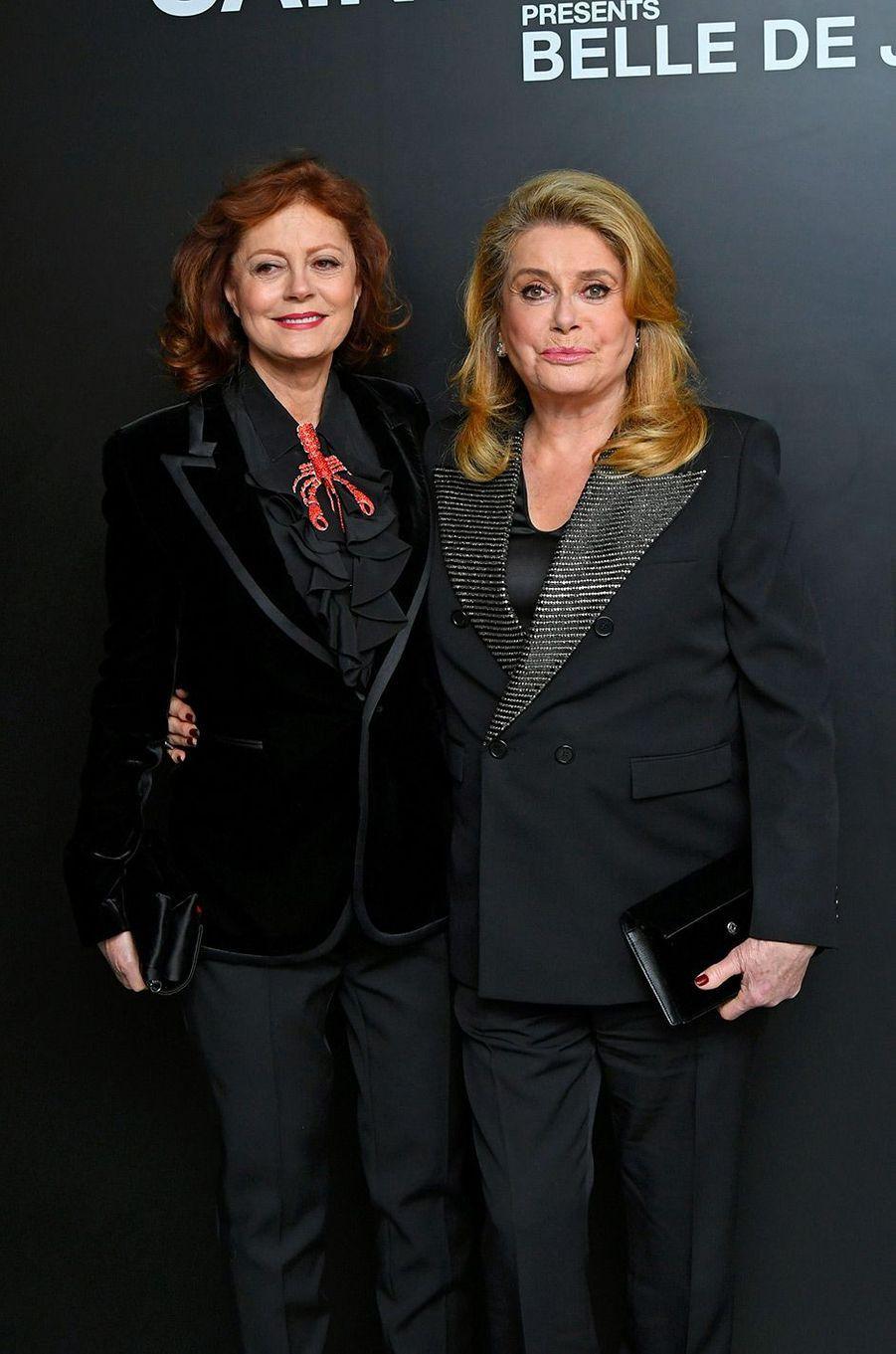 Catherine Deneuve avec Susan Sarandon, à New York, mercredi 19 décembre