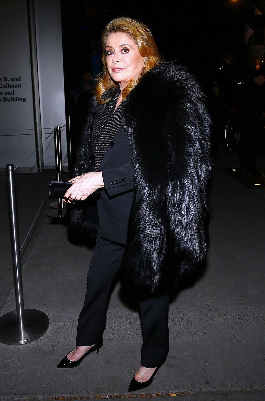Catherine Deneuve à New York, mercredi 19 décembre