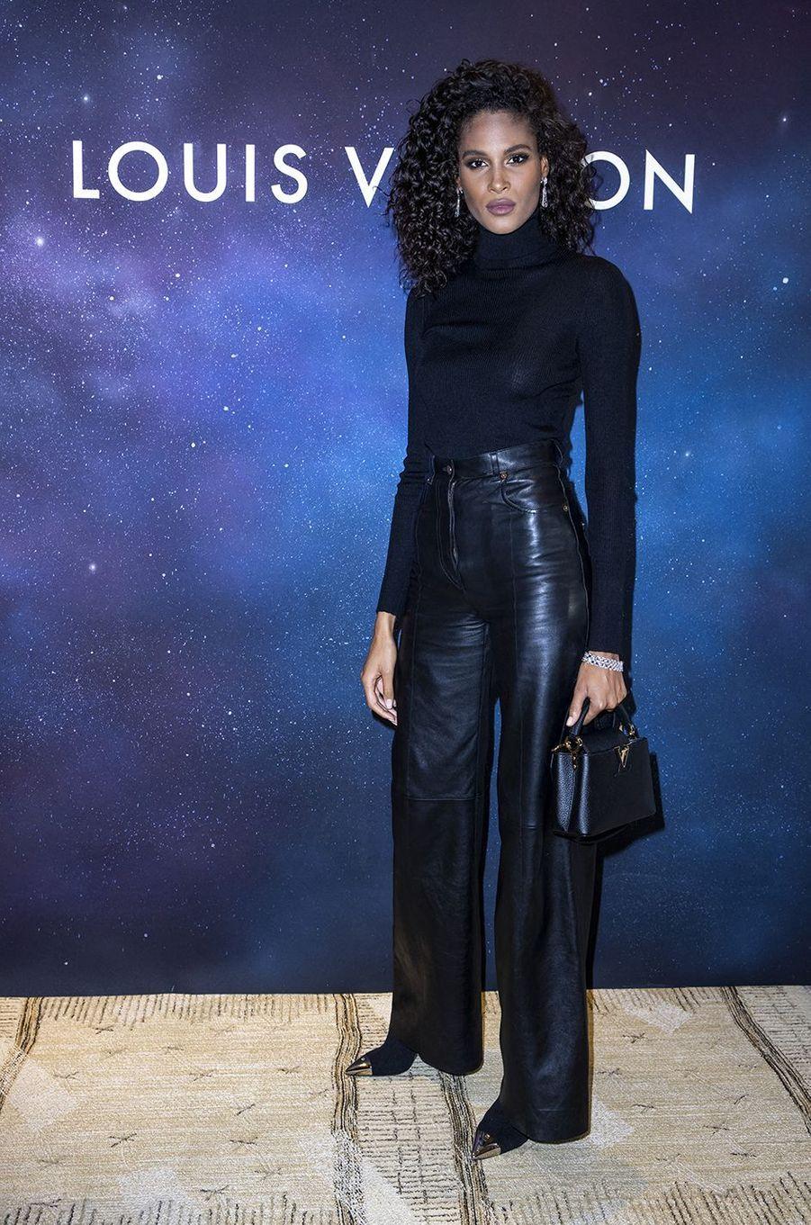 Cindy Brunaàla soirée Louis Vuitton pour la présentation de la collection de haute joaillerie«Stellar Times»à Paris le 28 septembre 2020