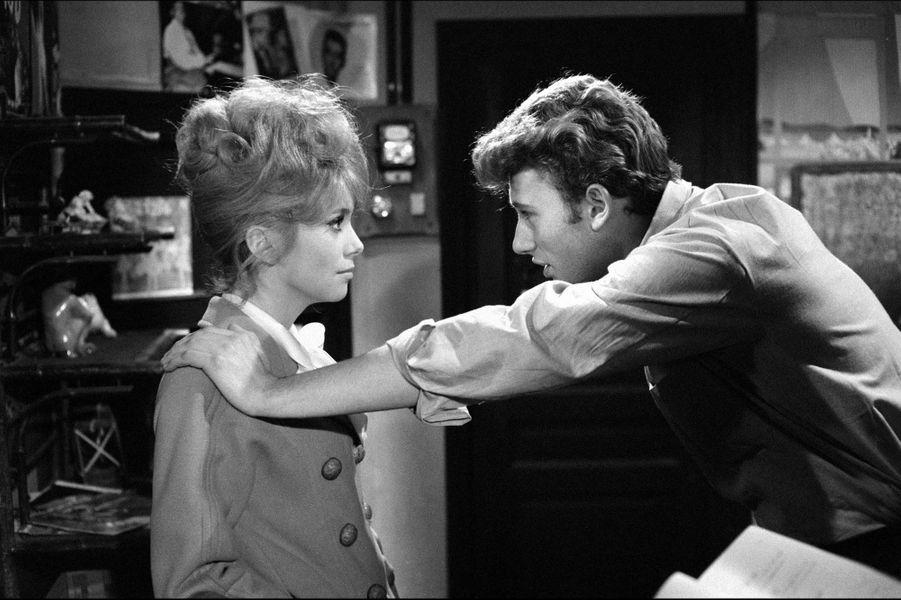 Catherine Deneuve avec Johnny Hallyday en 1961