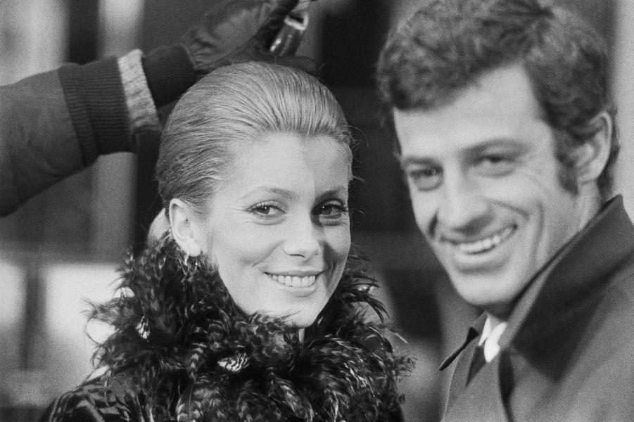 Catherine Deneuve avec Jean-Paul Belmondo en 1969