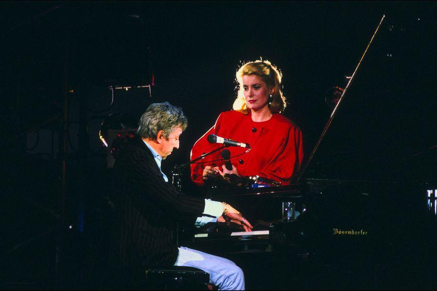 Catherine Deneuve avec Serge Gainsbourg en 1985