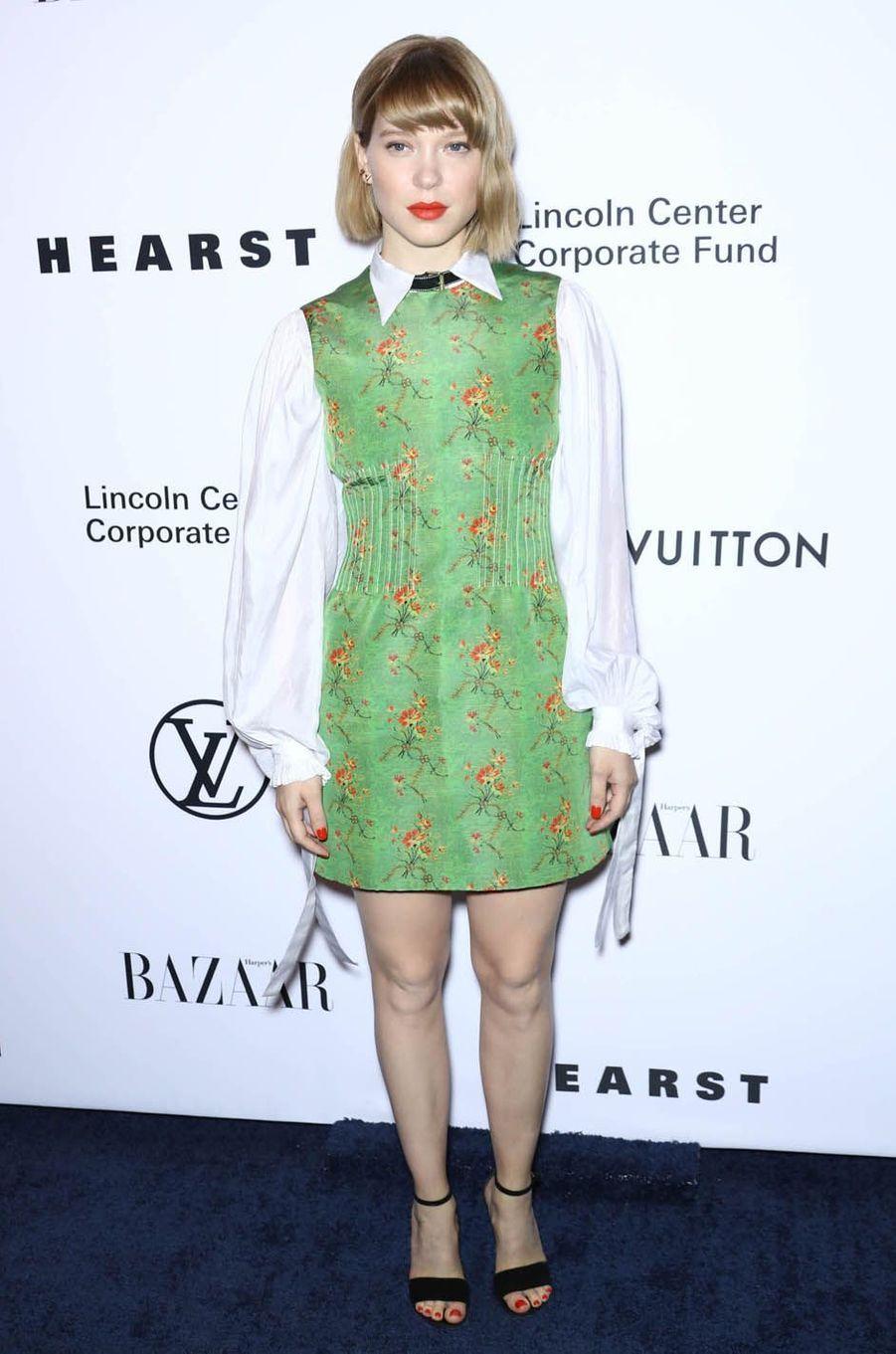 Léa Seydouxau gala de la fondation du Lincoln Center, le 30 novembre 2017 à New York.