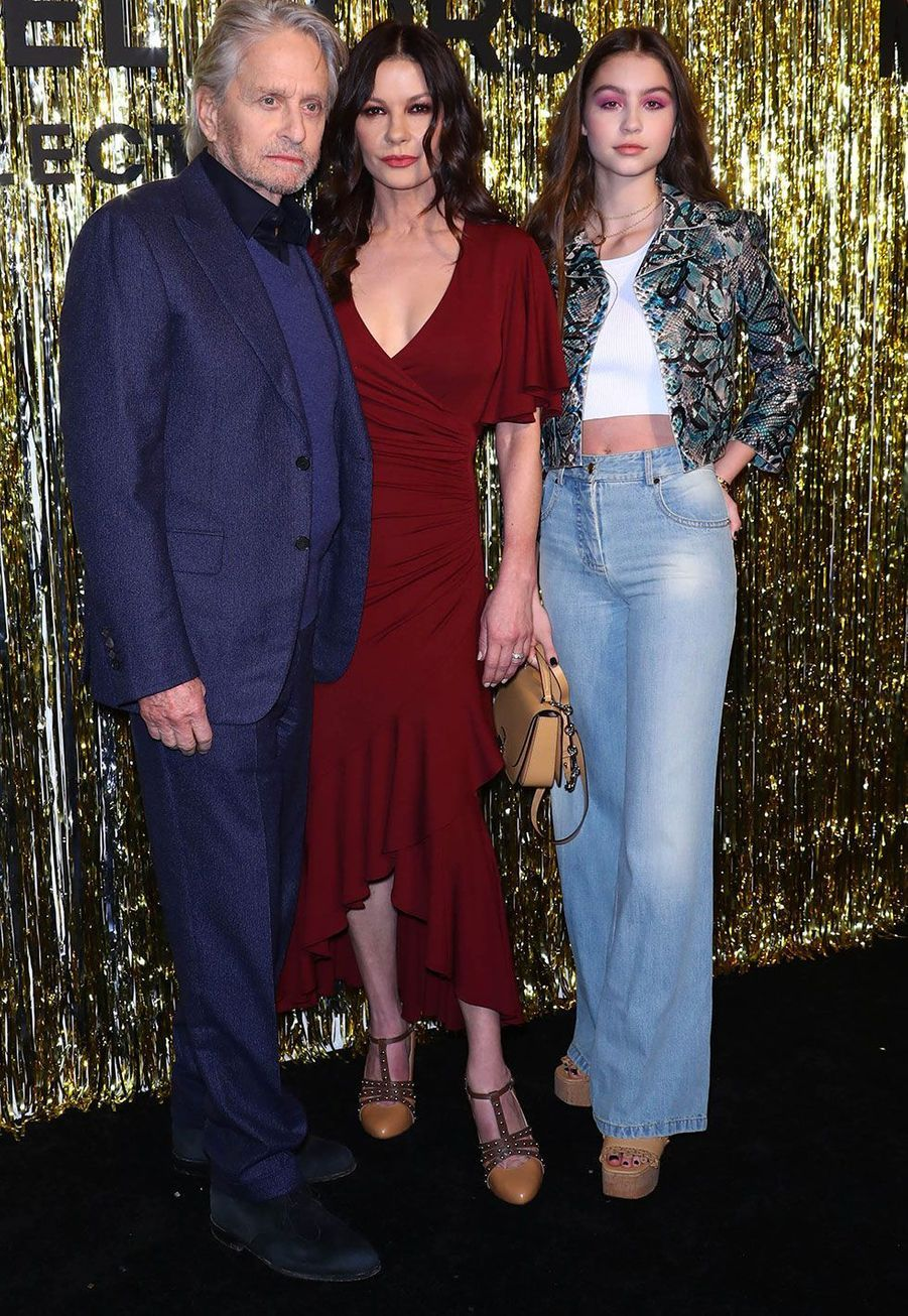 Michael Douglas, Catherine Zeta-Jones et leur fille Carys