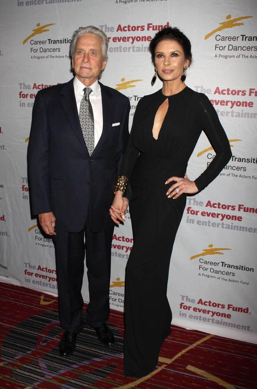 Michael Douglas et Catherine Zeta-Jones à New York, le 1er novembre 2017