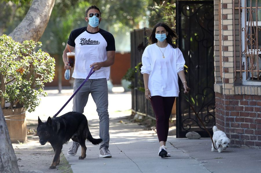 Ben Affleck et Ana de Armasà Los Angeles le 19 mai 2020