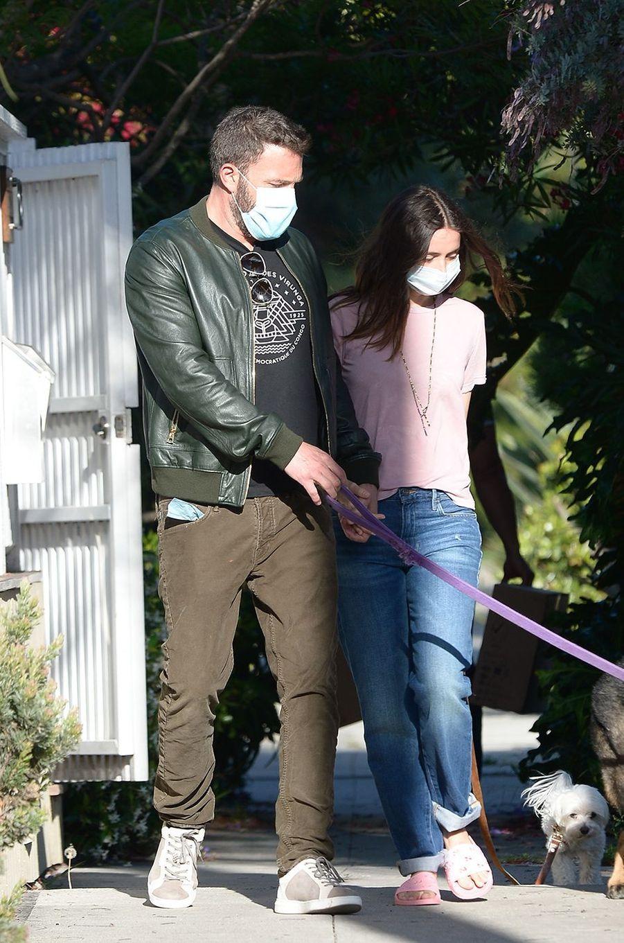 Ben Affleck et Ana de Armas à Los Angeles le 18 mai 2020