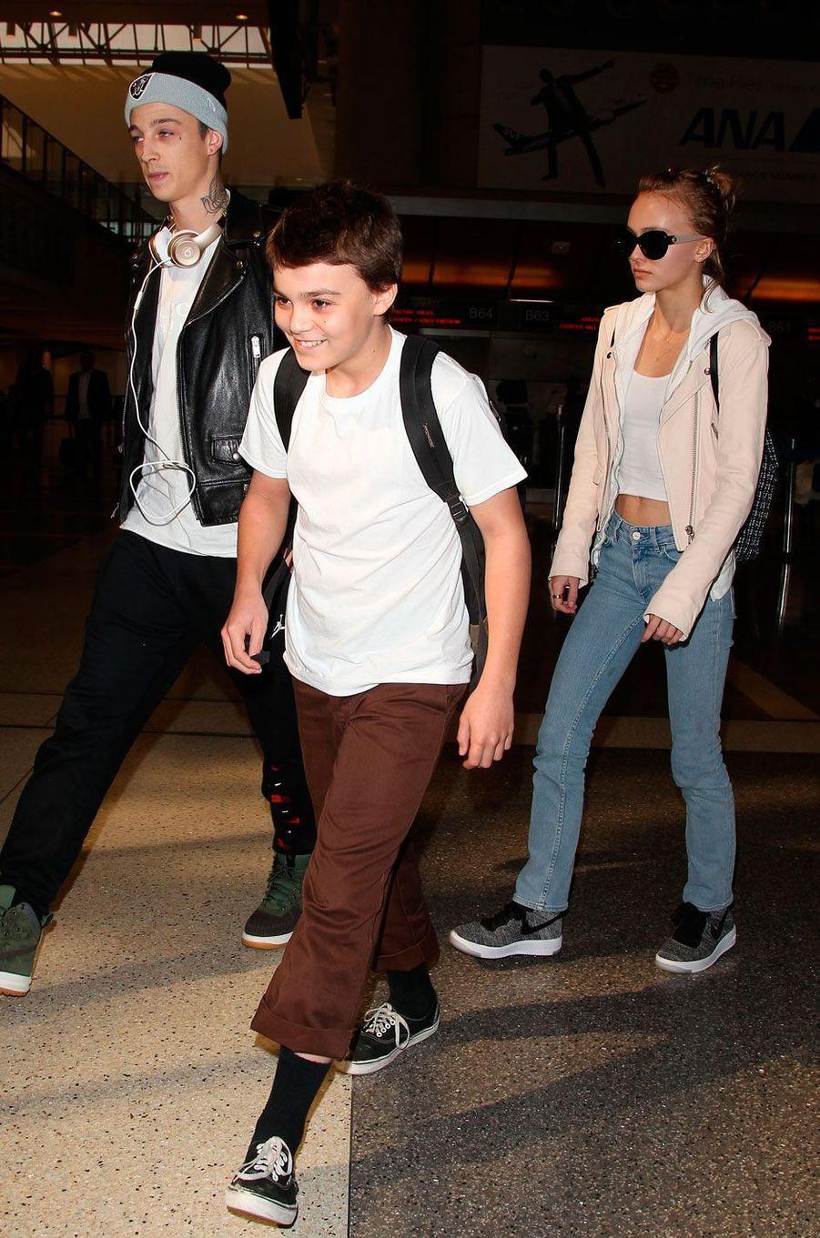 Jack Depp, sa soeur Lily-Rose Depp et son compagnon