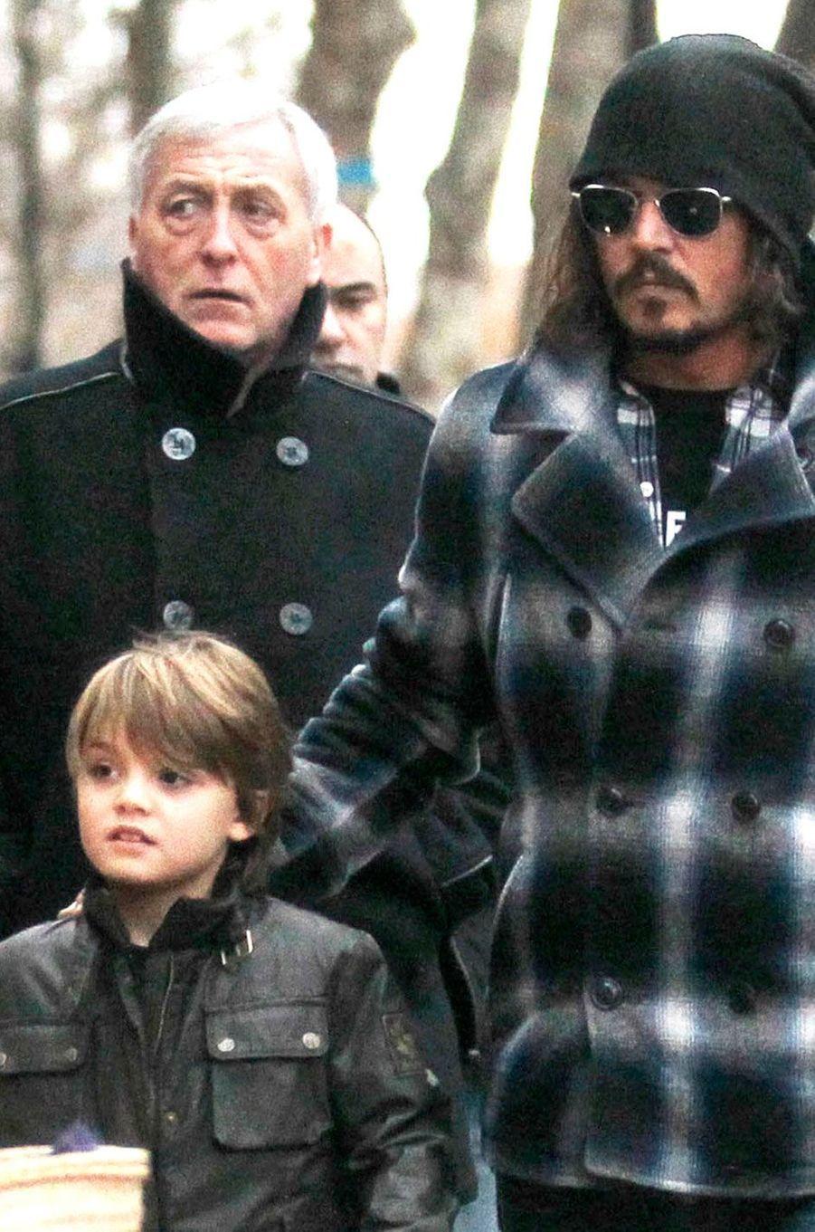 Jack Depp et son père Johnny Depp