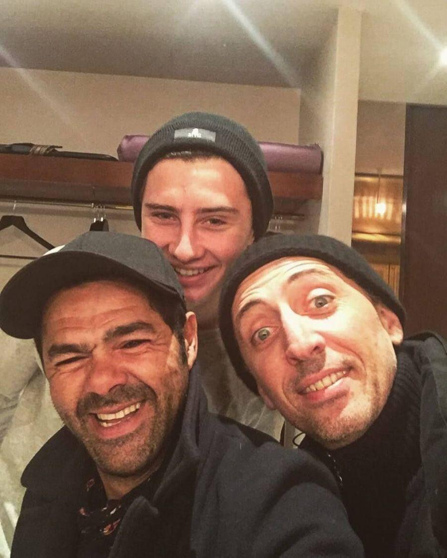 Avec Jamel Debouzze et Gad Elmaleh.