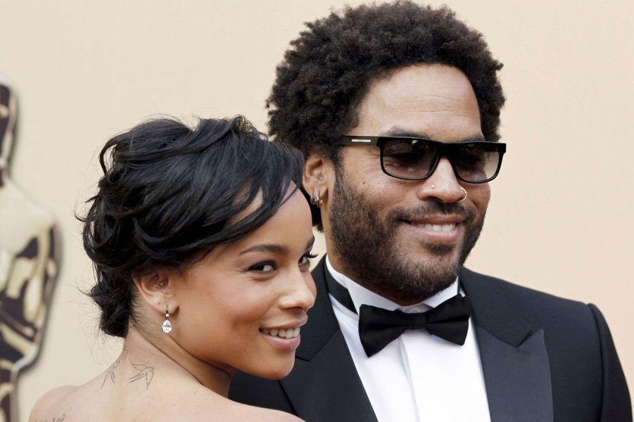 Zoë et son père Lenny Kravitz en 2010 à Los Angeles.