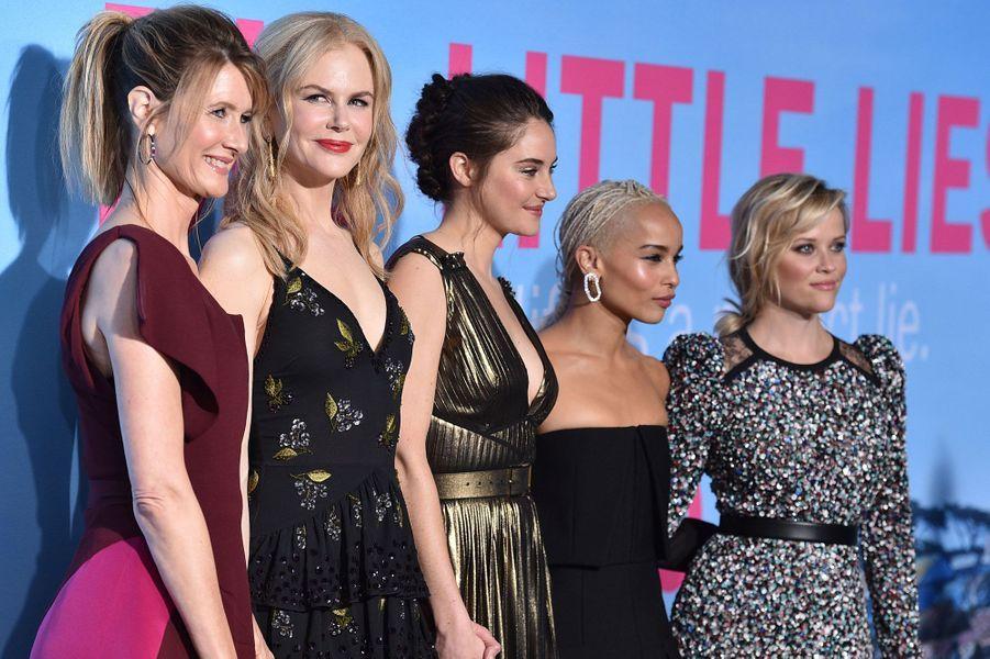 Laura Dern, Nicole Kidman, Shailene Woodley, Zoe Kravitz et Reese Witherspoon.