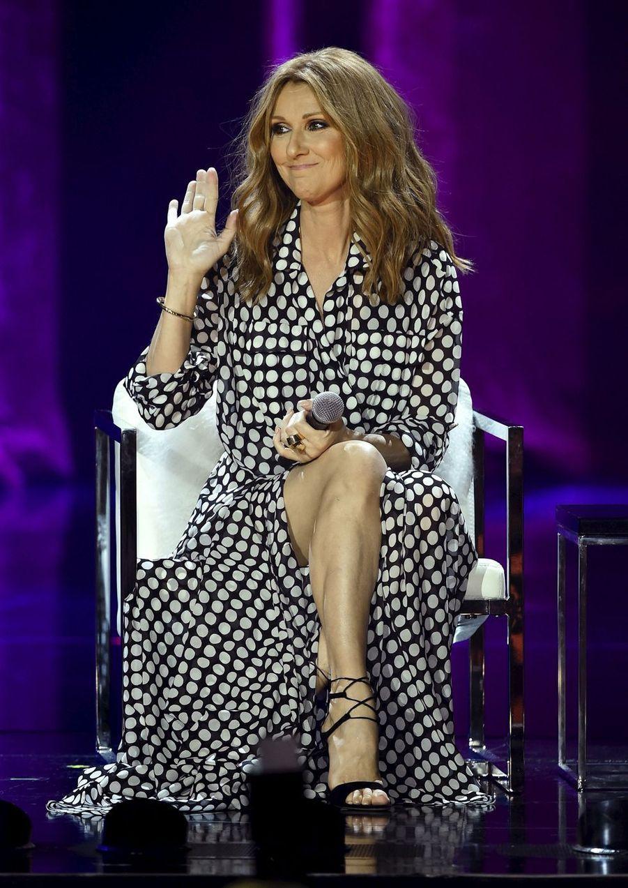Céline Dion à Las Vegas, le 27 août 2015