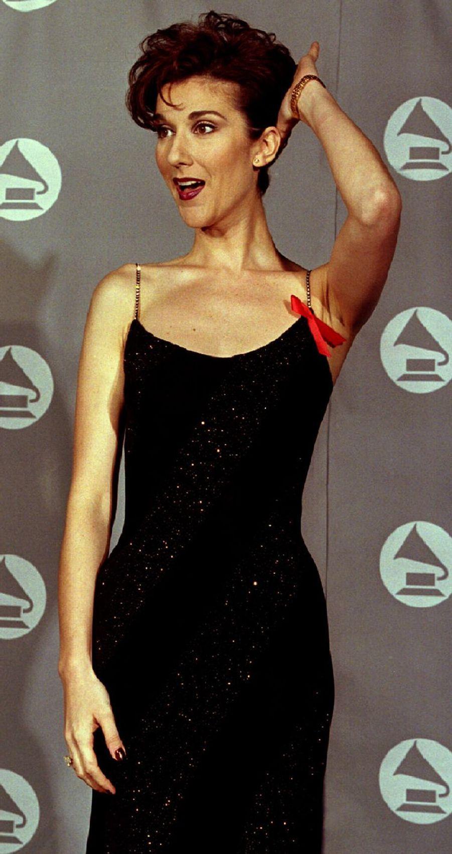 Céline Dion à Los Angeles, le 1er mars 1995