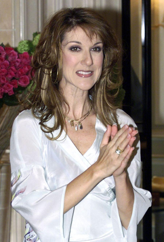 Céline Dion à Paris, le 20 mars 2002