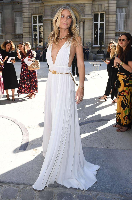 Gwyneth Paltrow au défilé Valentino à Paris, le 3 juillet 2019.