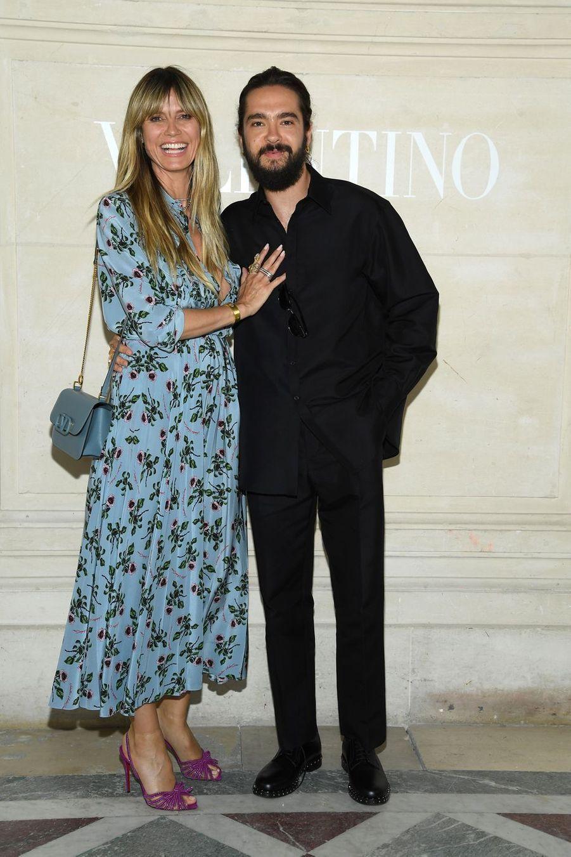 Heidi Klum et son compagnon au défilé Valentino à Paris, le 3 juillet 2019.