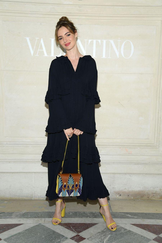 Louise Bourgouin au défilé Valentino à Paris, le 3 juillet 2019.
