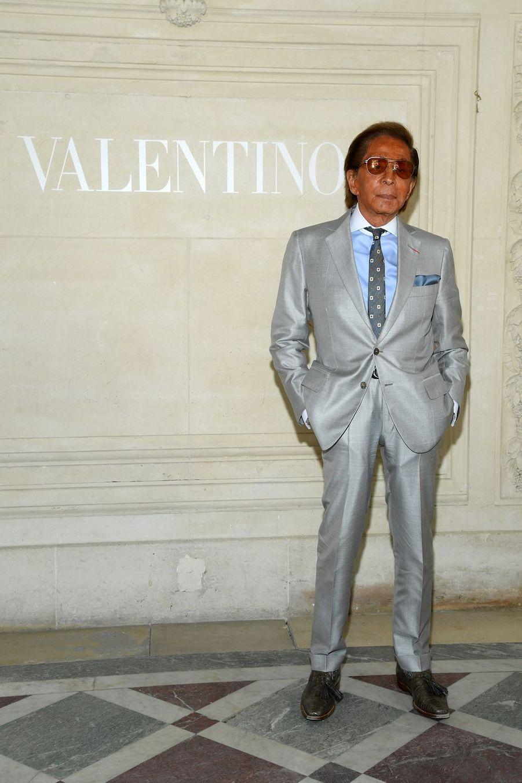 Valentino Garavani au défilé Valentino à Paris, le 3 juillet 2019.