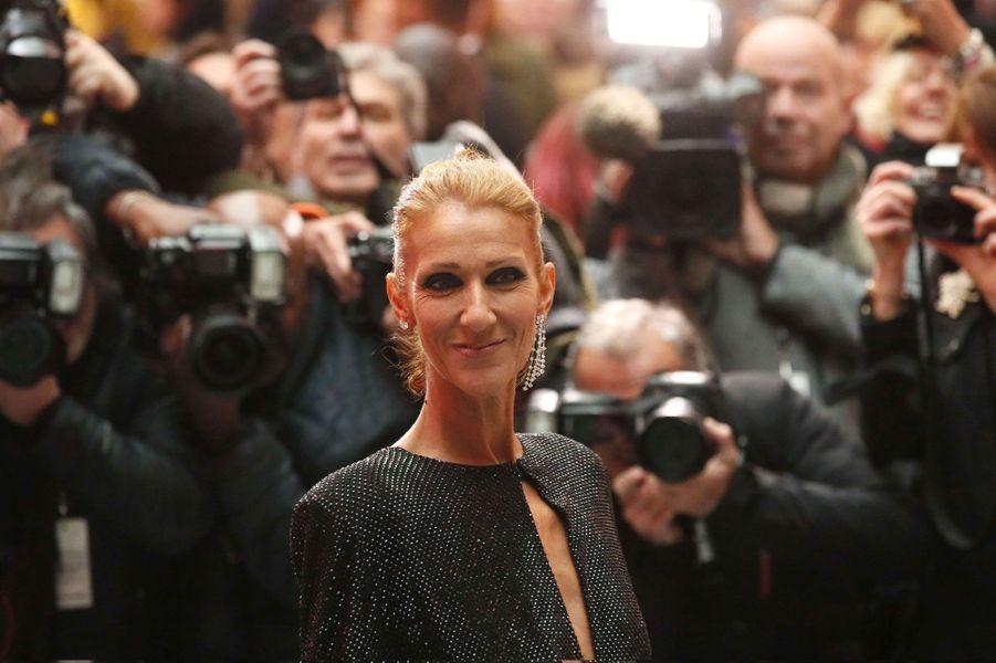 Céline Dion au défilé Alexandre Vauthier à Paris le 22 janvier 2019