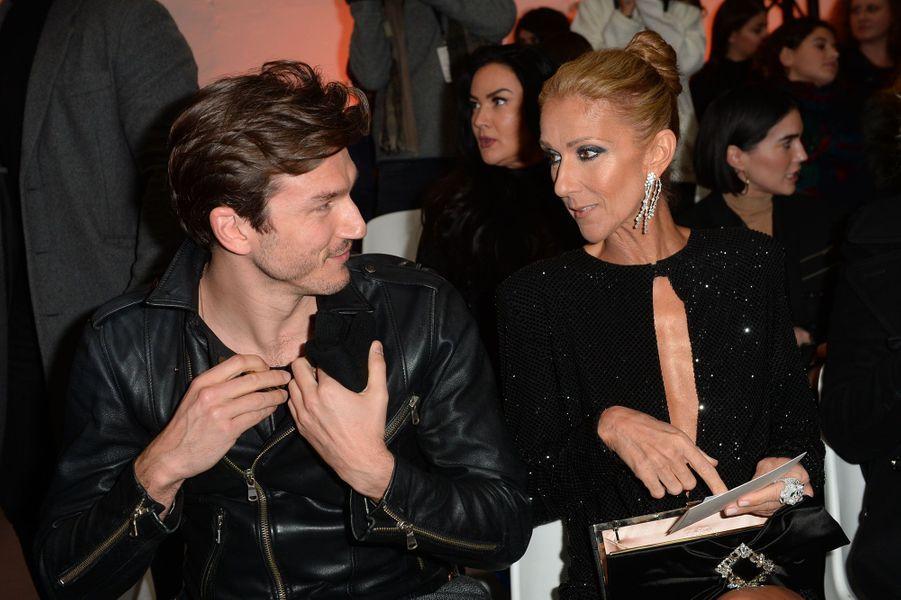 Céline Dion et Pepe Munoz au défilé Alexandre Vauthier à Paris le 22 janvier 2019