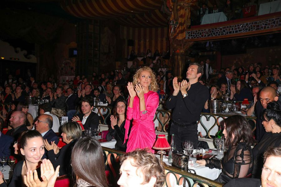 Céline Dion et Pepe Munoz au Moulin Rouge, jeudi 24 janvier