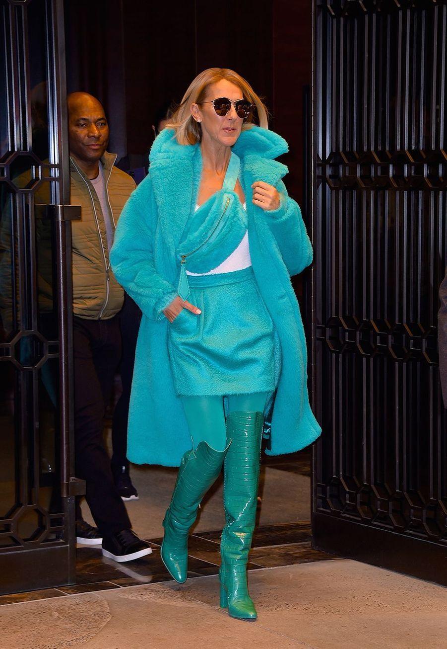 Céline Dion dans une rue de West Village à New York le 13 novembre 2019.