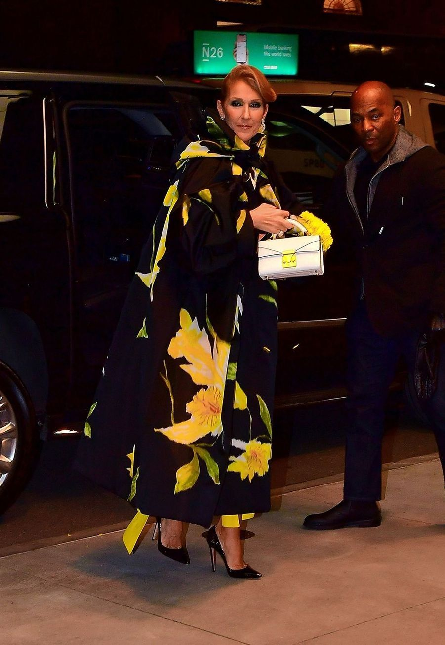 Céline Dion en balade à New York le 12 novembre 2019.