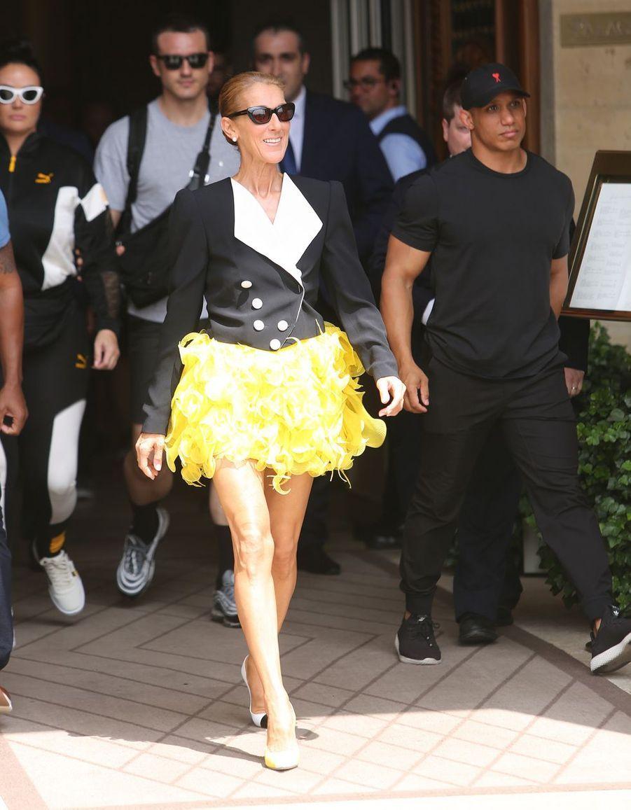 Céline Dion enRonald van der Kempà Paris, le 30 juin 2019