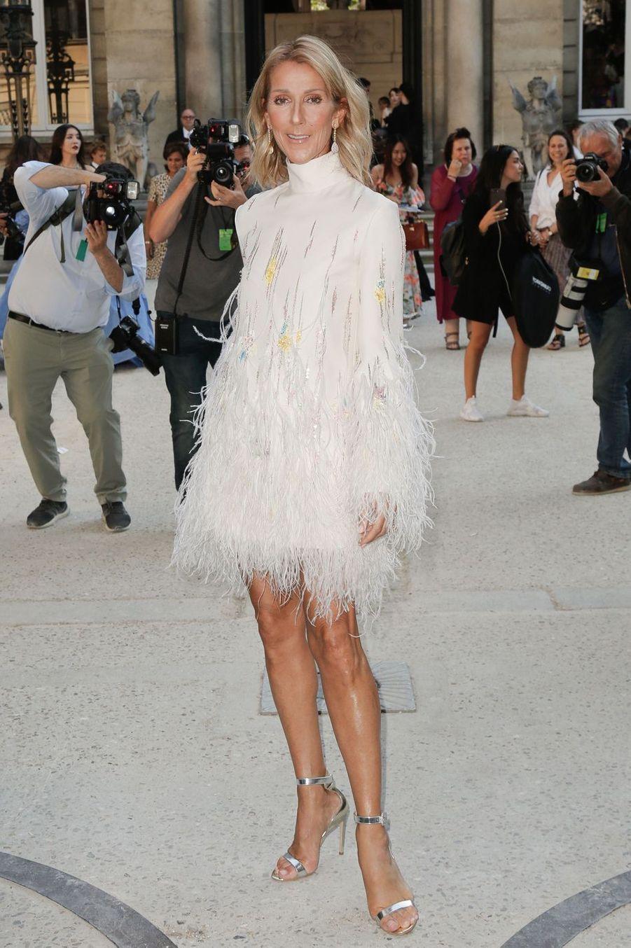 Céline Dion en robe Valentino à Paris, le 3 juillet 2019