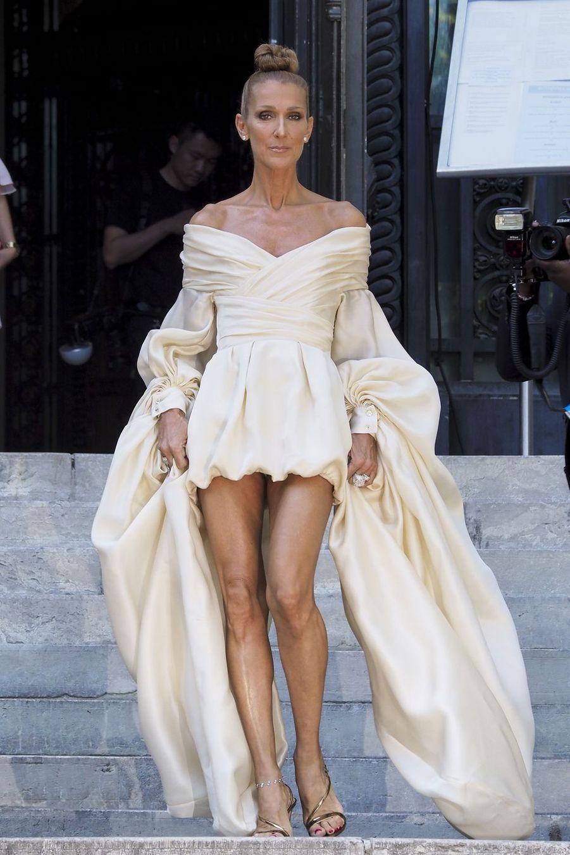 Céline Dion en robe Alexandre Vauthier à Paris, le 2 juillet 2019