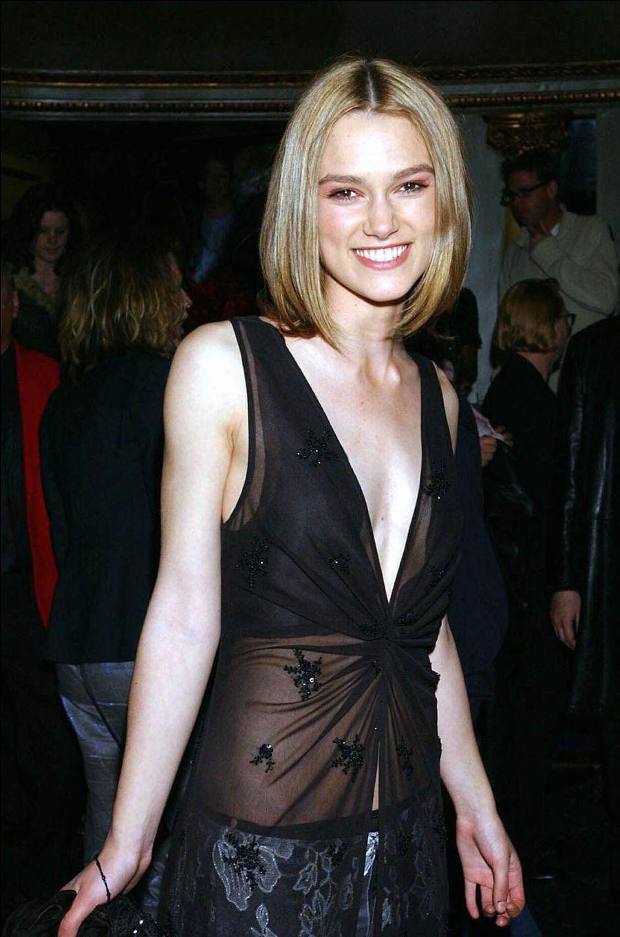 Keira Knightley en 2002.