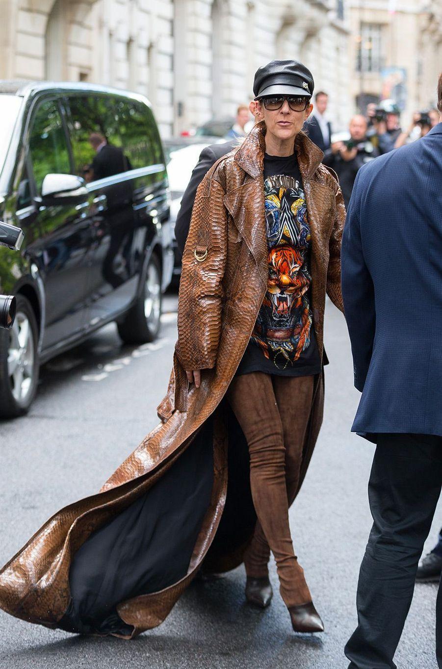 Céline Dion, à Paris le 28 juin 2017