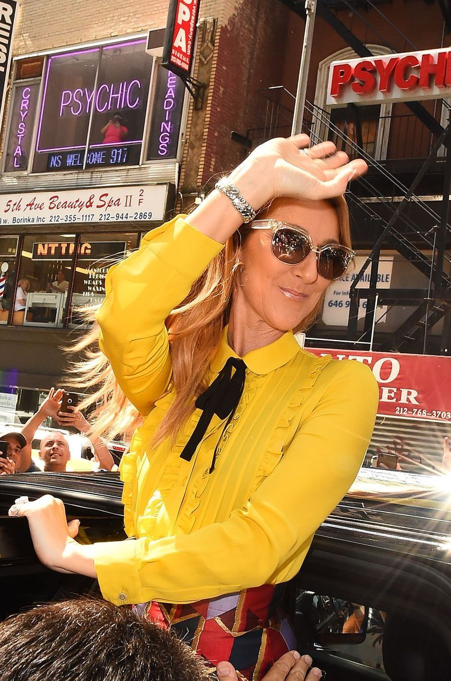 Céline Dion à New York, juillet 2016.
