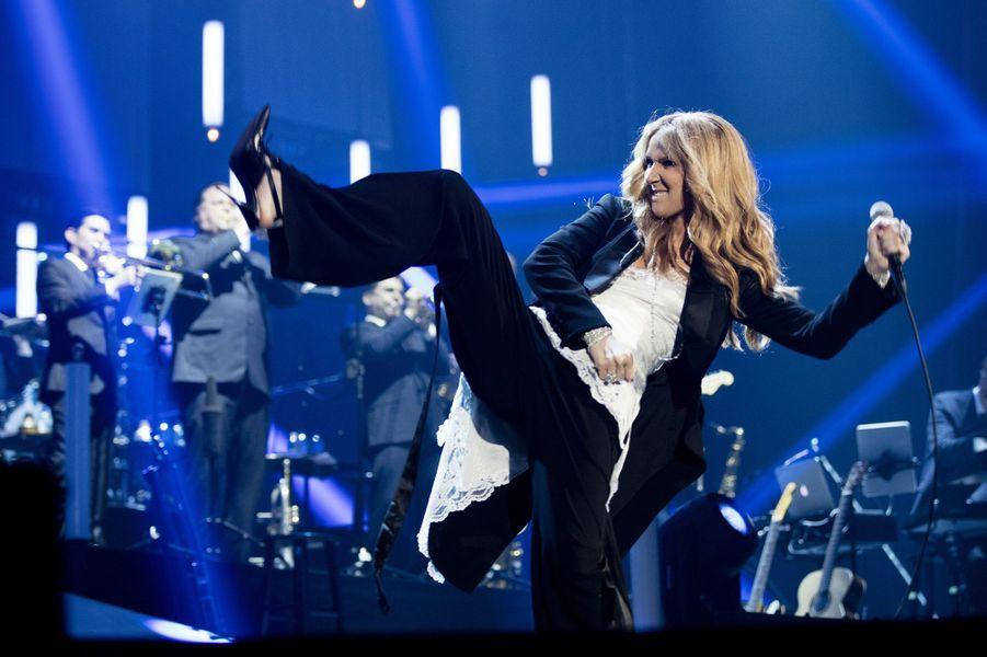 Céline Dion en concert à Paris, le samedi 25 juin 2016.