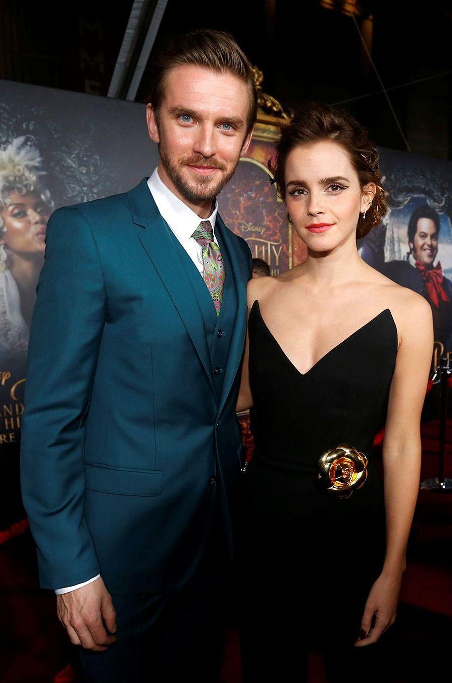 """Emma Watson et Dan Stevens à l'avant-première de """"La Belle et la Bête"""" à Los Angeles, le 3 mars 2017."""