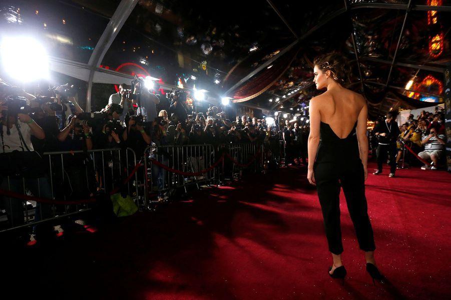"""Emma Watson à l'avant-première de """"La Belle et la Bête"""" à Los Angeles, le 3 mars 2017."""