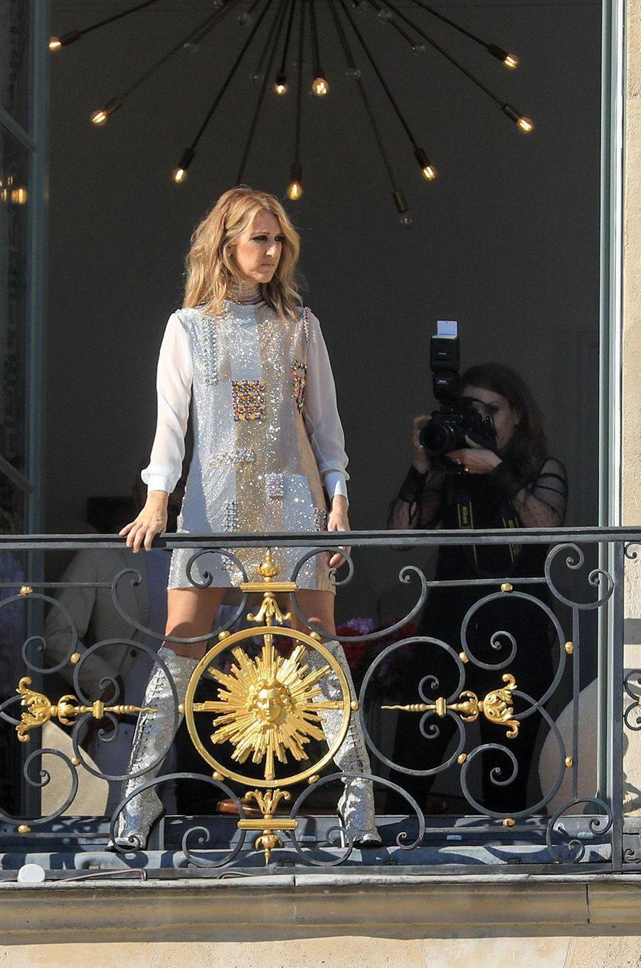 Céline Dion, une fashionista à Paris.