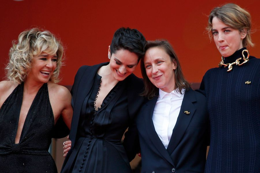Valeria Golino,Noemie Merlant,Céline Sciamma et Adèle Haenel.