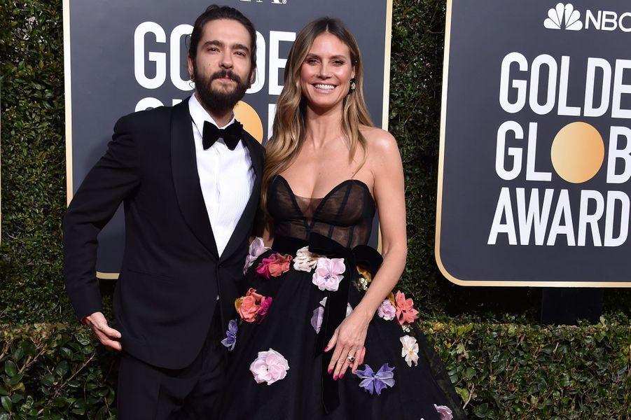 Heidi Klum et Tom Kaulitz lors de la 75ème cérémonie des Golden Globes Awards, le 6 janvier 2019 à Beverly Hills