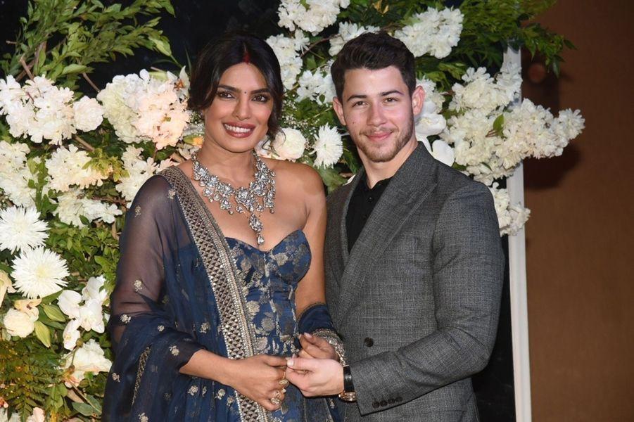 Photo de mariage de la deuxième réception de mariage de Nick Jonas et Priyanka Chopra à Mumbai, le 19 décembre 2018.