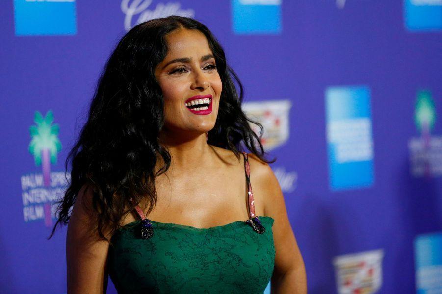 """Salma Hayek (Palm Spring, le 3 janvier 2018)2003: """"The Maldonado Miracle""""(téléfilm)2006: Clip vidéo """"Te Amo Corazon"""" pour le chanteurPrince"""