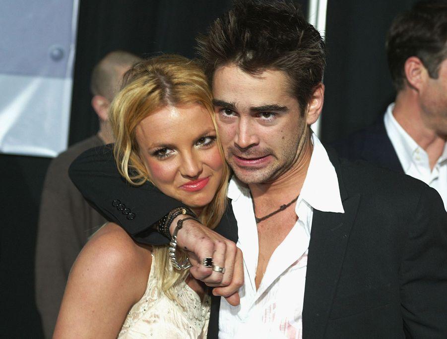 Britney Spears et Colin Farrell étaient apparus très proches et tactiles en 2003