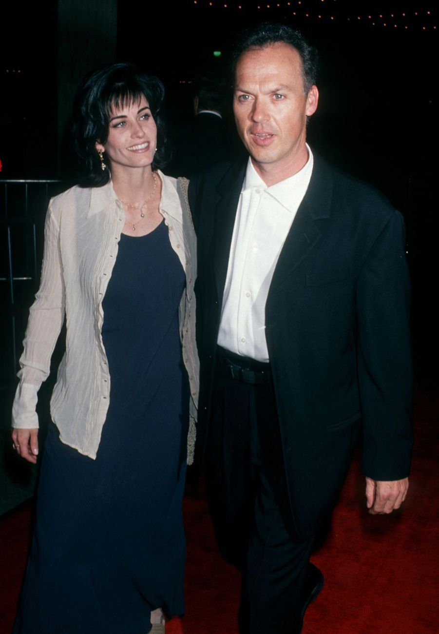 Courteney Cox et Michael Keaton en 1994. Six ans de vie commune avant la rupture en 1995.
