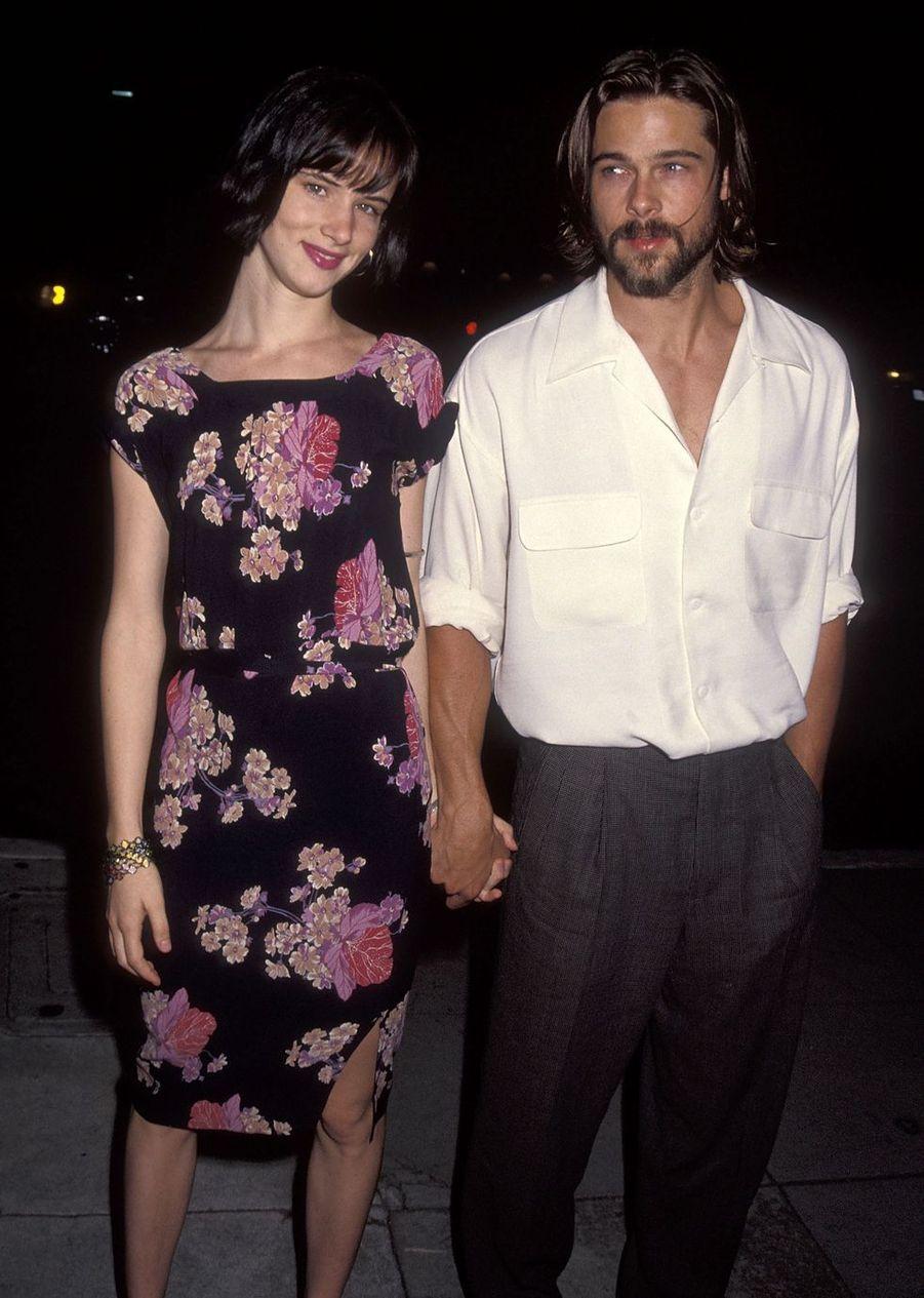 Juliette Lewis et Brad Pitt en 1992. Trois ans de relation entre 1990 et 1993.