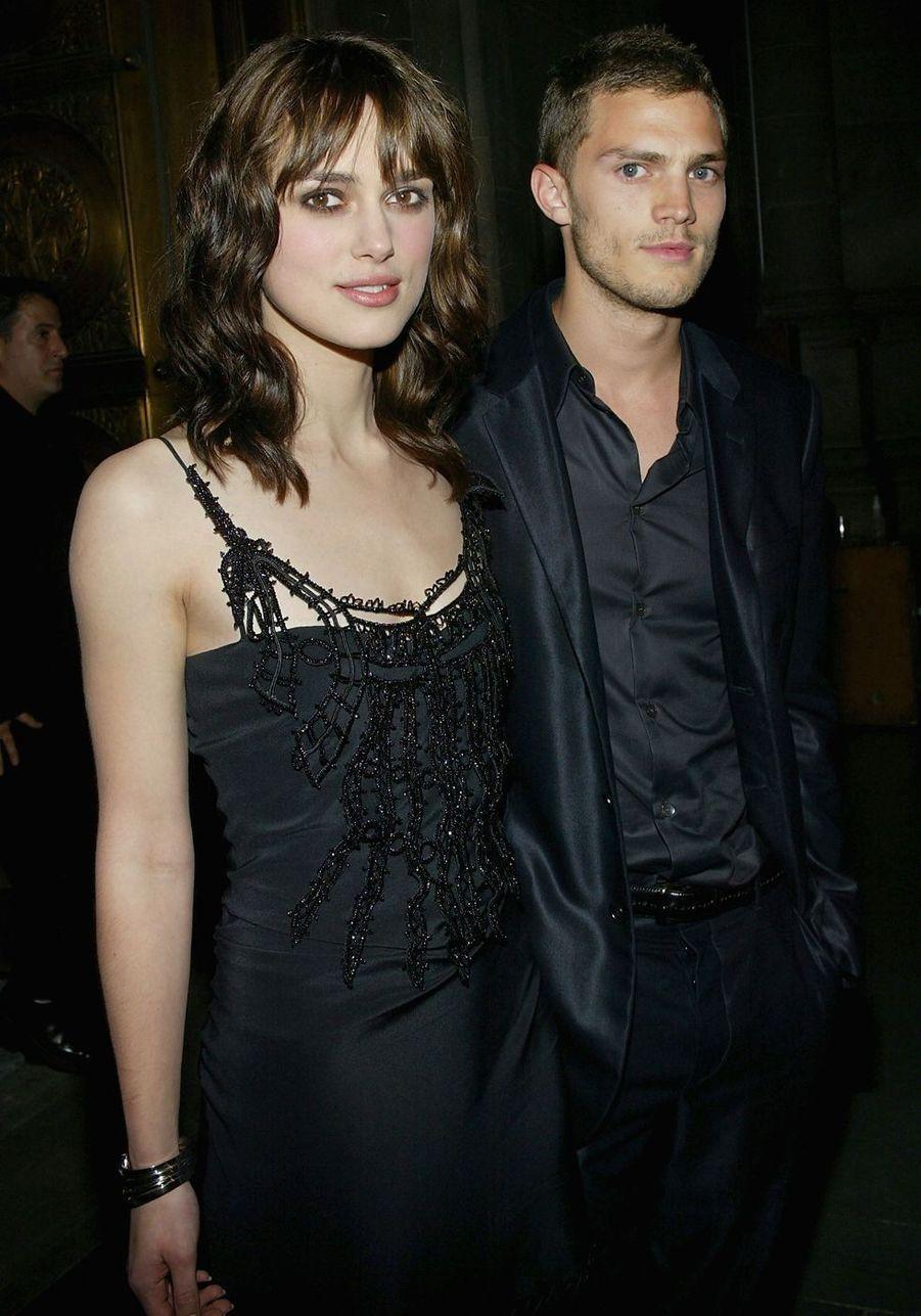 Keira Knightley et Jamie Dornan en 2004. Le couple s'est fréquenté entre 2003 et 2005.