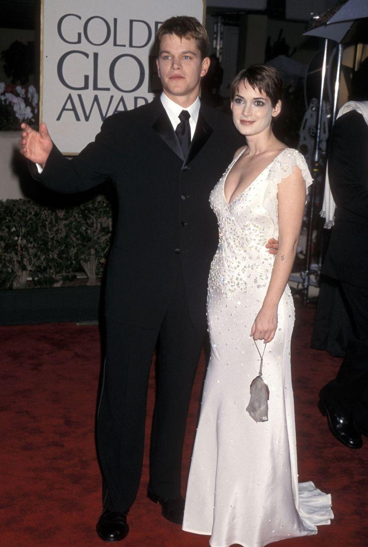 Matt Damon et Winona Ryder en 2000. Le couple avait rompu la même année après deux années d'amour.